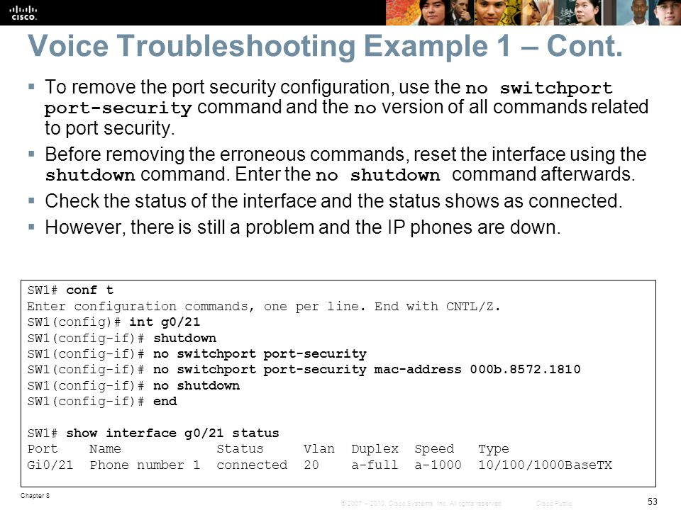 Chapter 8: Troubleshooting Converged Networks - ppt download