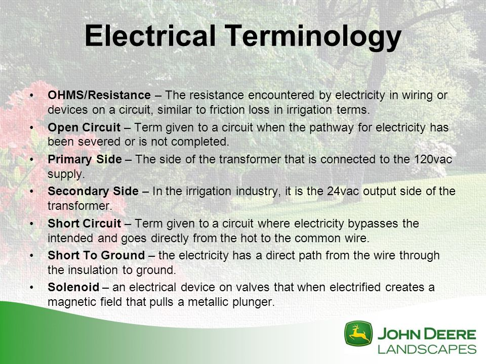irrigation troubleshooting ppt video online download house structure components house wiring terminology #22