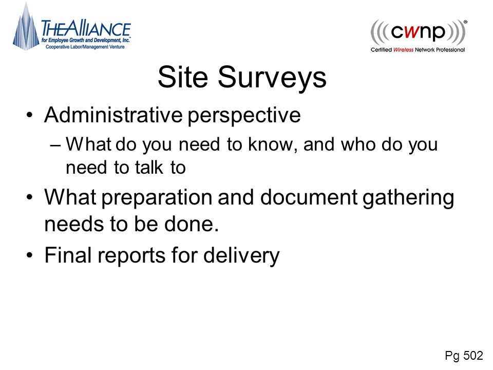 Chapter 15 Radio Frequency Site Survey Fundamentals - ppt