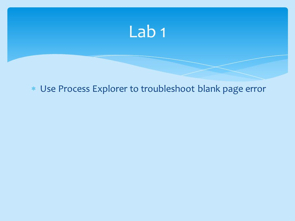 How to use Sysinternals tools to troubleshoot SharePoint