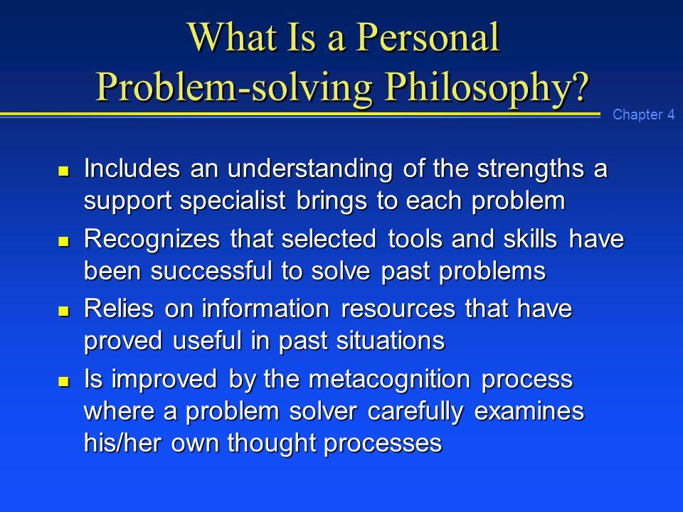 problem solving philosophy
