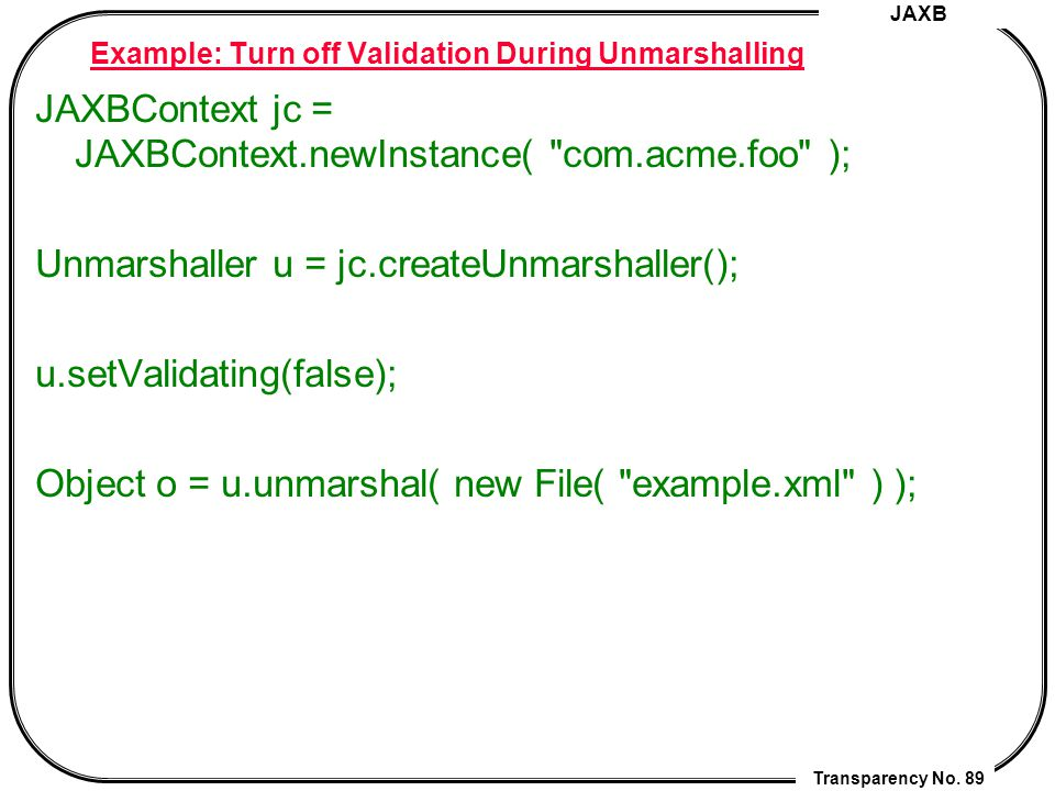 Setvalidating xml tutorial