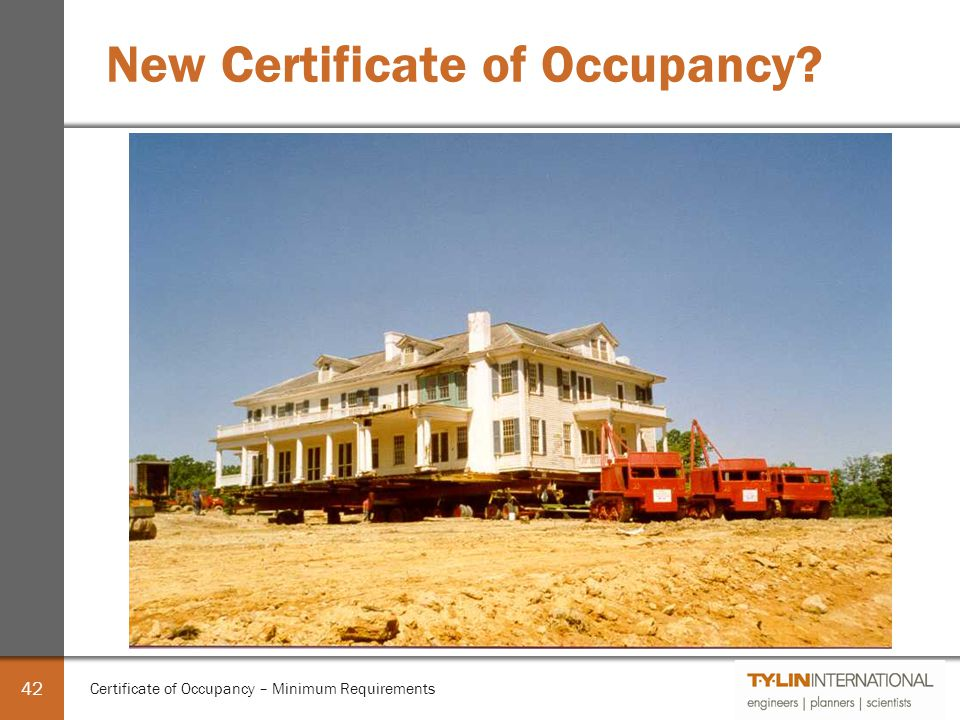 Certificate Of Occupancy Minimum Requirements Ppt Video Online