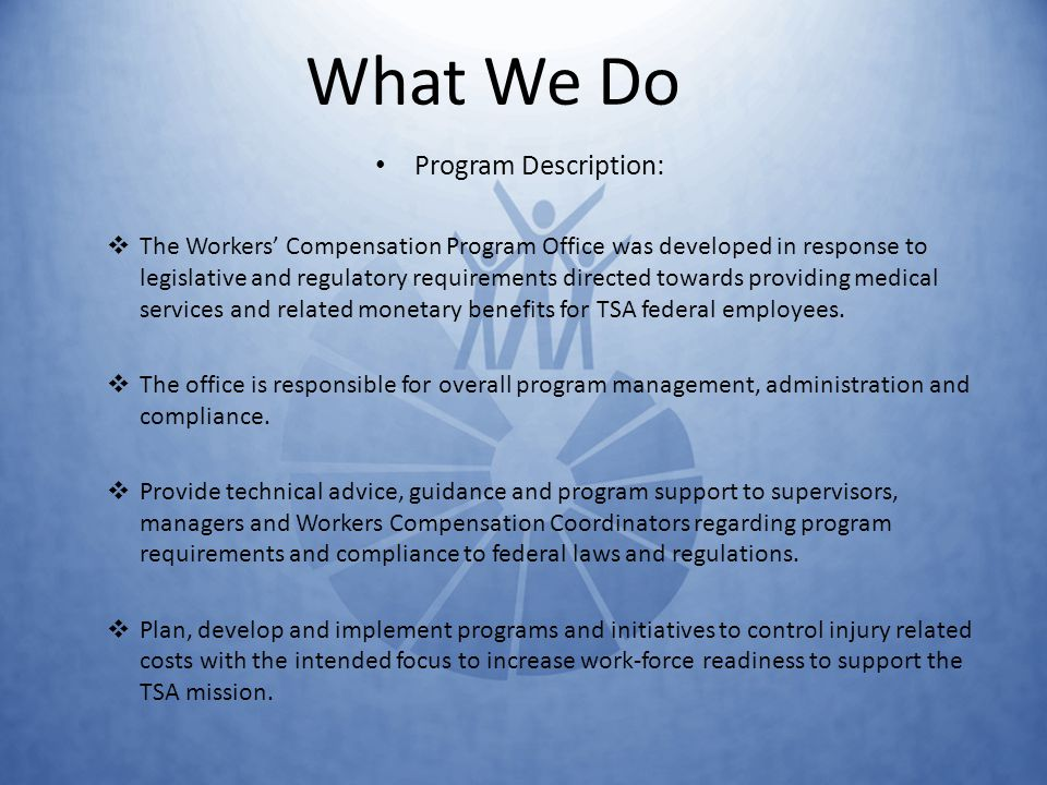 Facts To Know About Tsas Workers Compensation Program Ppt Video