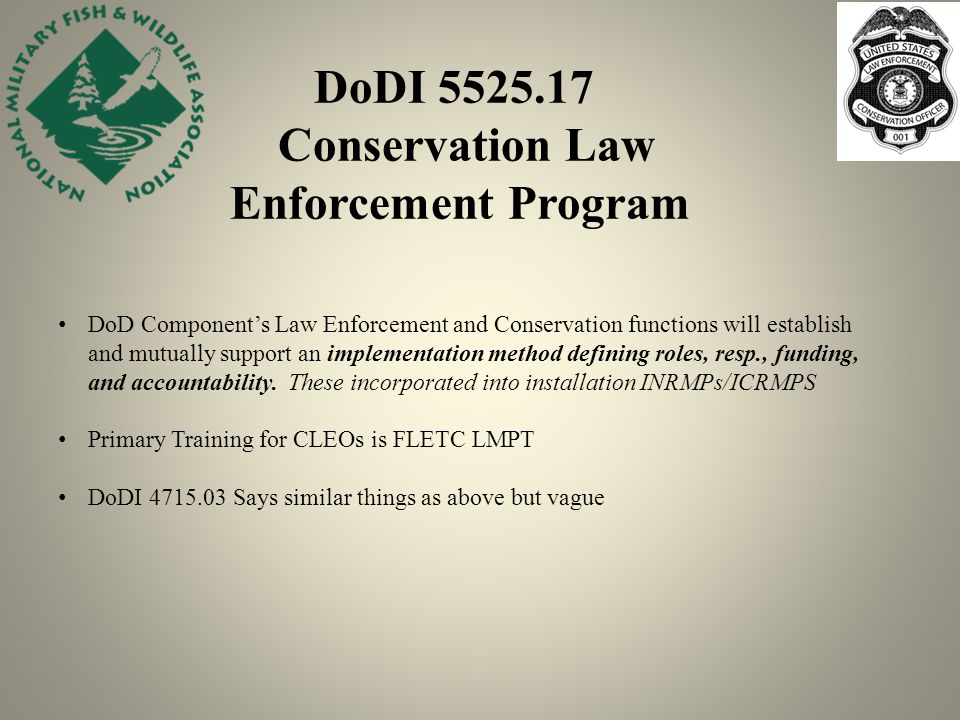 Conservation Law Enforcement Working Group Ppt Video Online Download