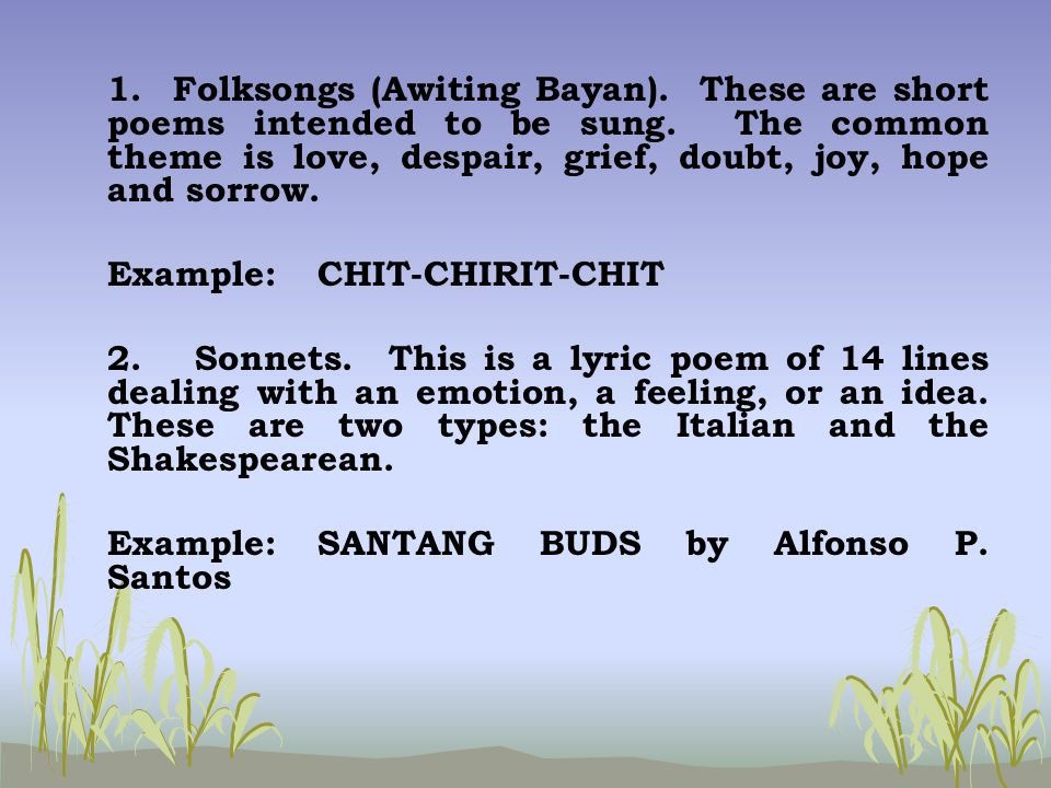 Philippine Literature - ppt download