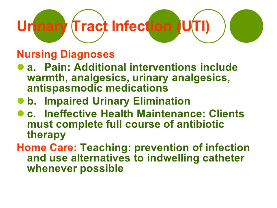 preventing utis with long term catheter A urinary tract infection (uti) is an infection that affects any part of the urinary tract, including the kidneys, ureters, bladder or urethra ()bacteria from the bowel are the most common cause.