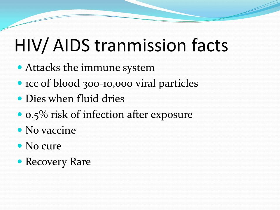 HIV/ AIDS tranmission facts