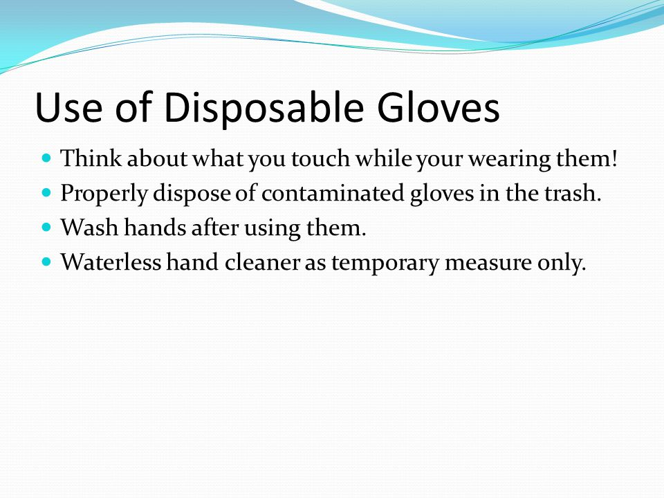 Use of Disposable Gloves
