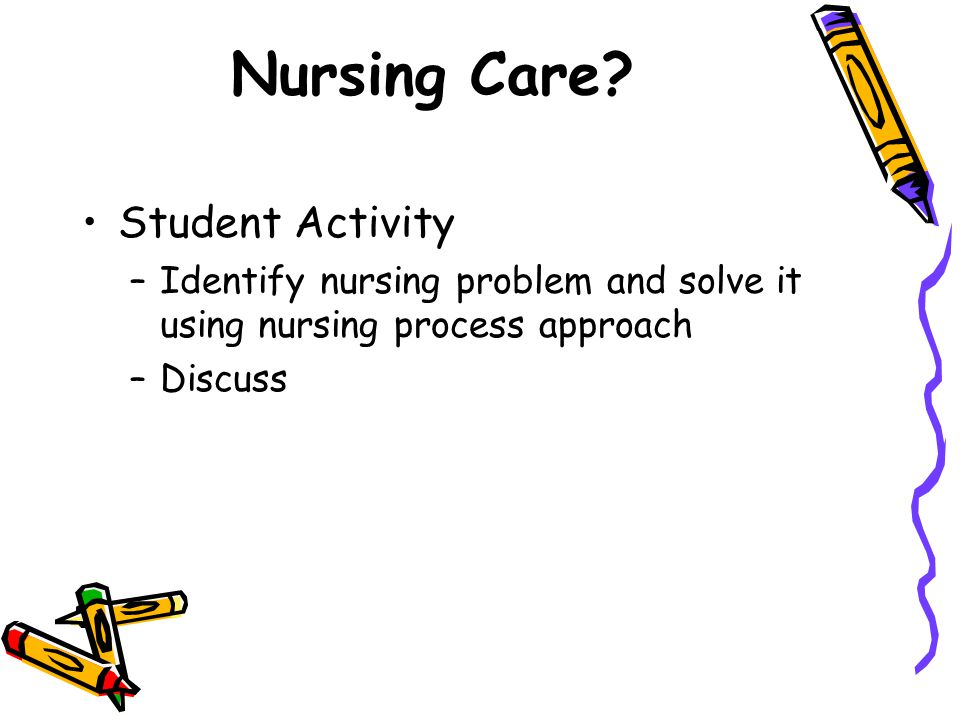 Nursing Care Student Activity