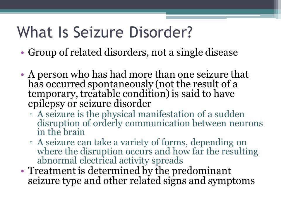 Seizure Disorder: The Hidden Disability - ppt video online