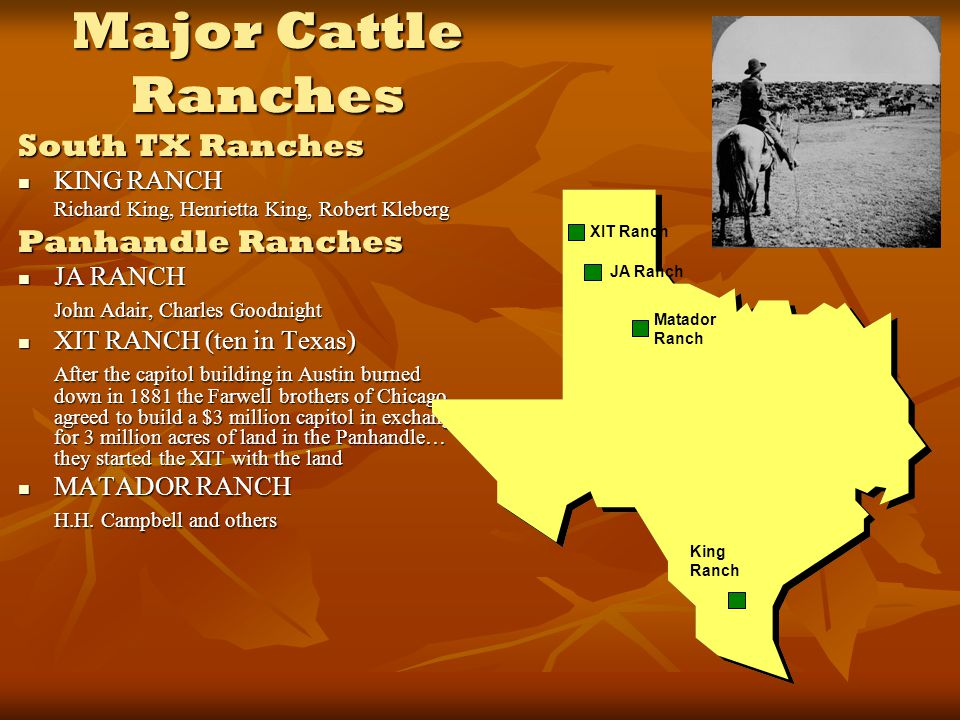Map Of Xit Ranch Texas.Cattle Drives A Visual History Ppt Video Online Download