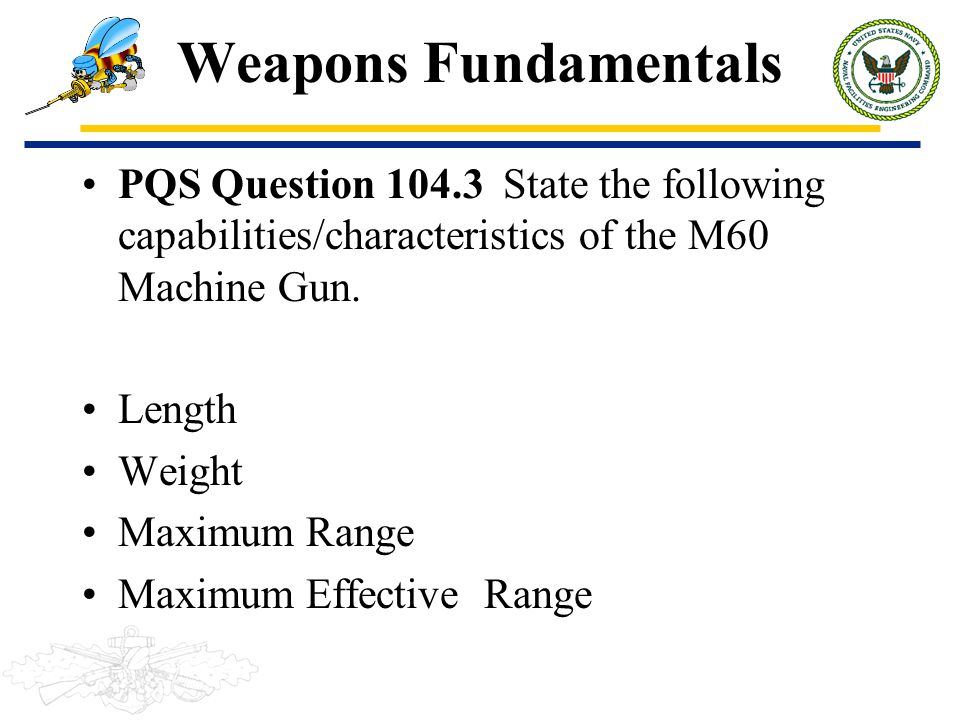 105 WEAPONS FUNDAMENTALS  - ppt download
