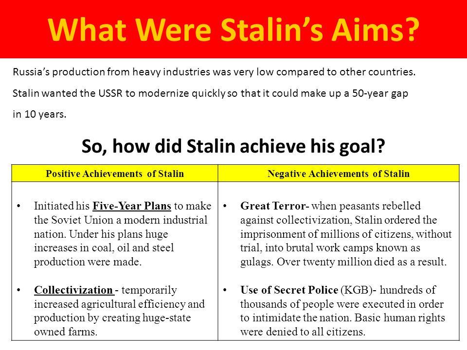 stalin five year plan summary
