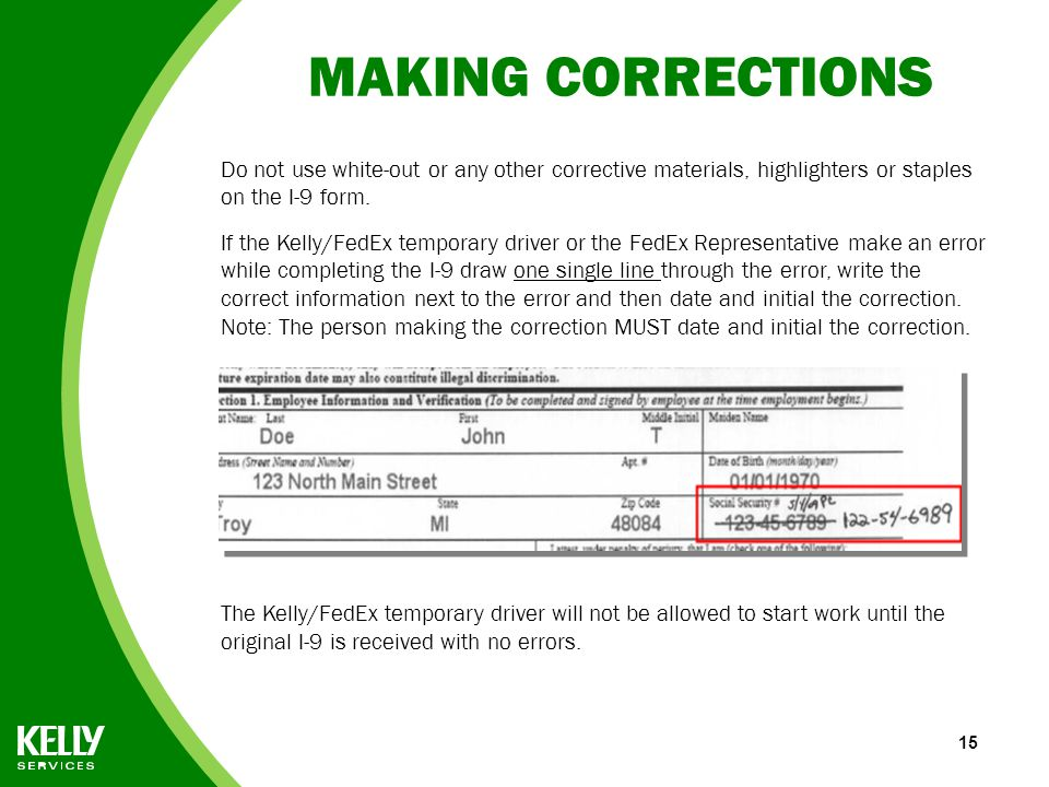 graphic relating to I9 Form Printable identified as Kind I-9 Directions for FedEx Reps - ppt down load