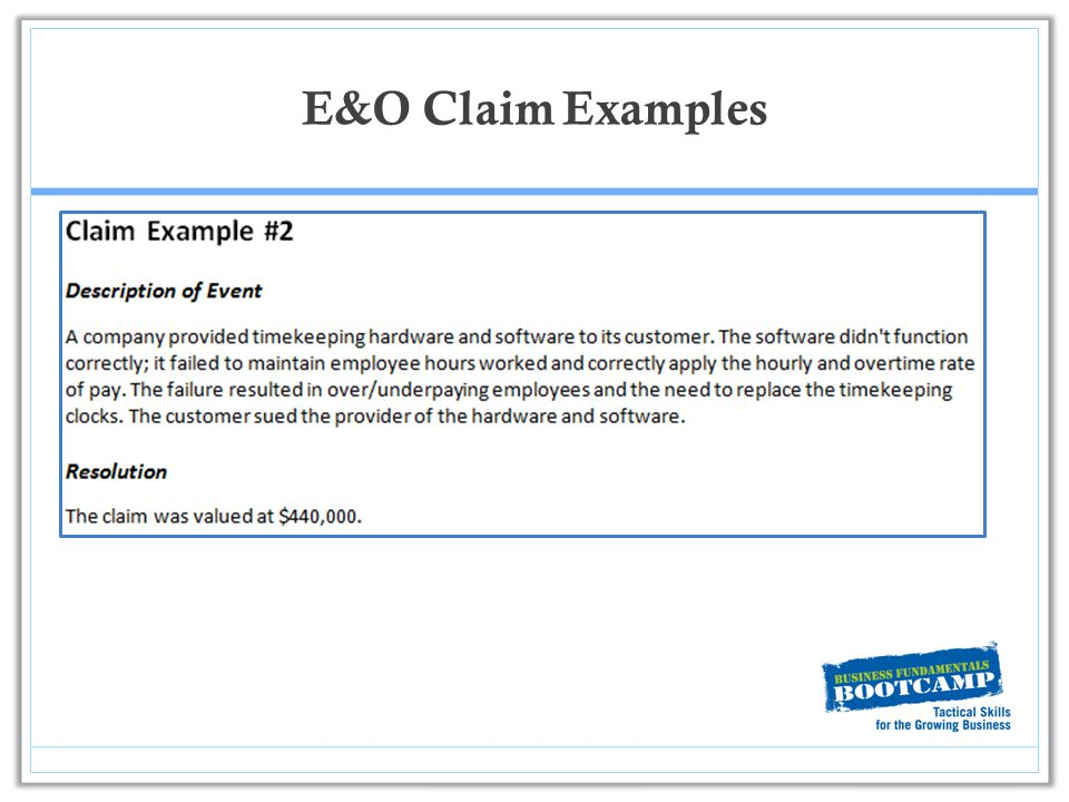 5 most common errors & omissions claims for technology firms.