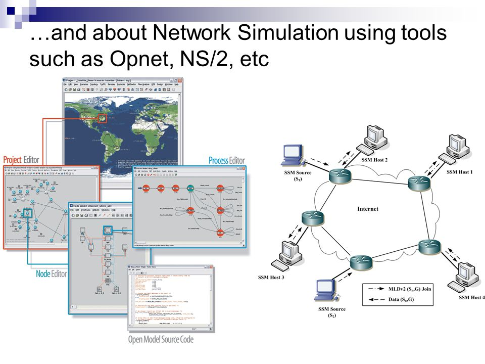 …and about Network Simulation using tools such as Opnet, NS/2, etc