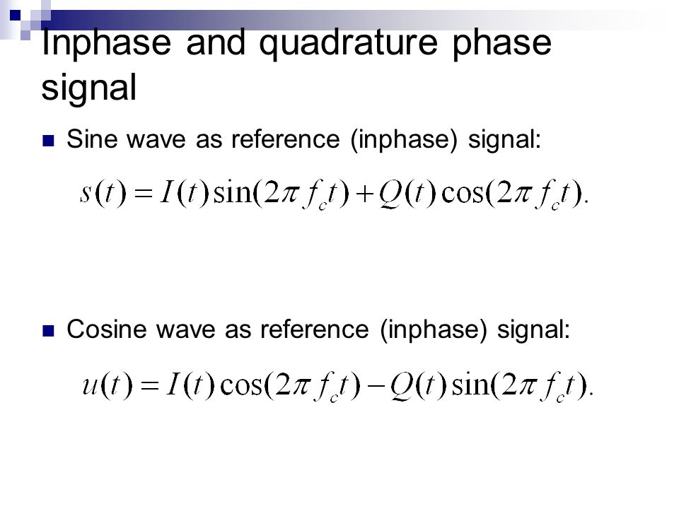 Inphase and quadrature phase signal