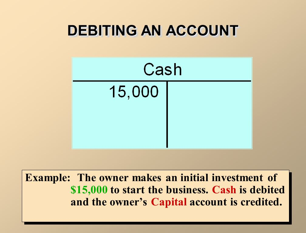 DEBITING AN ACCOUNT