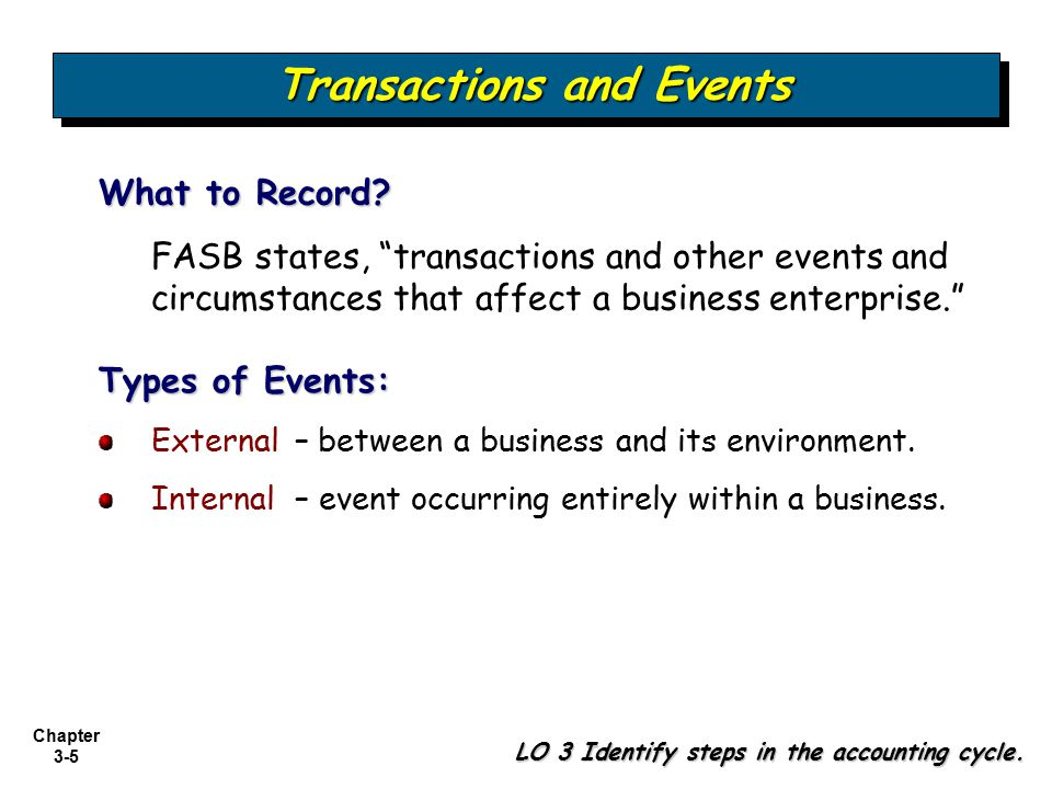 Transactions and Events