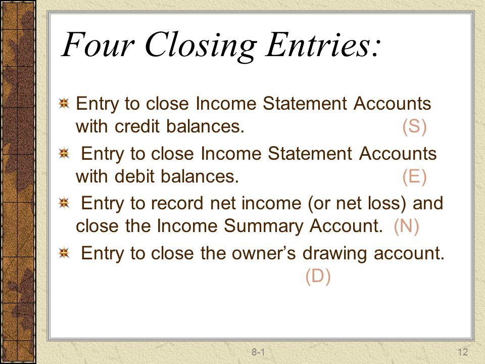 how to close temporary credit balances
