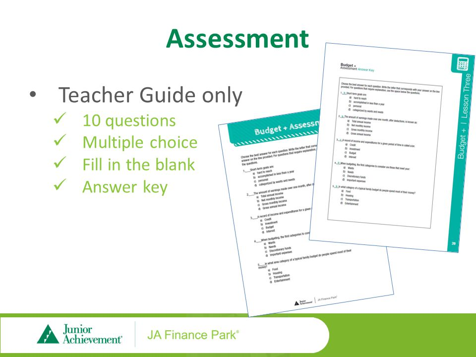 ja finance park middle and high school ppt download