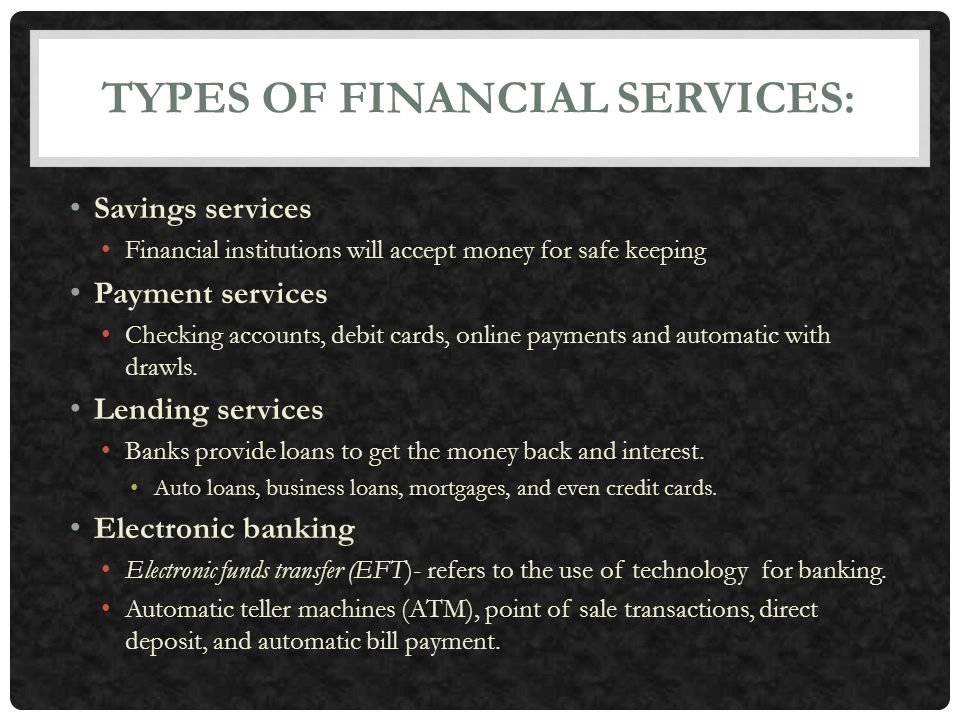 Chapter 17: Banking and Financial Services - ppt video online download