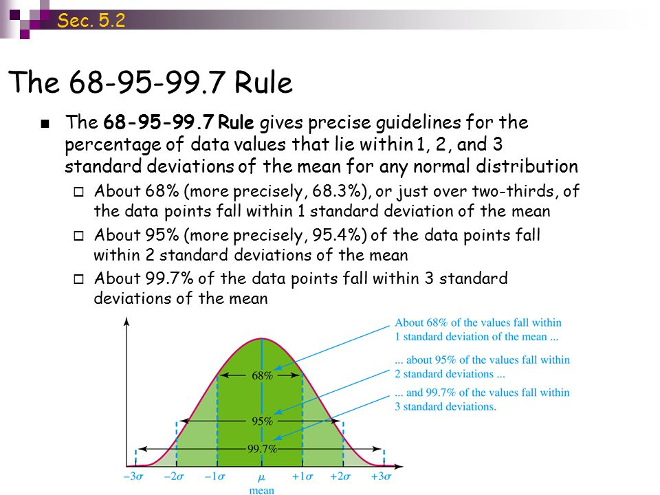 Section 5 2 ~ Properties of the Normal Distribution - ppt