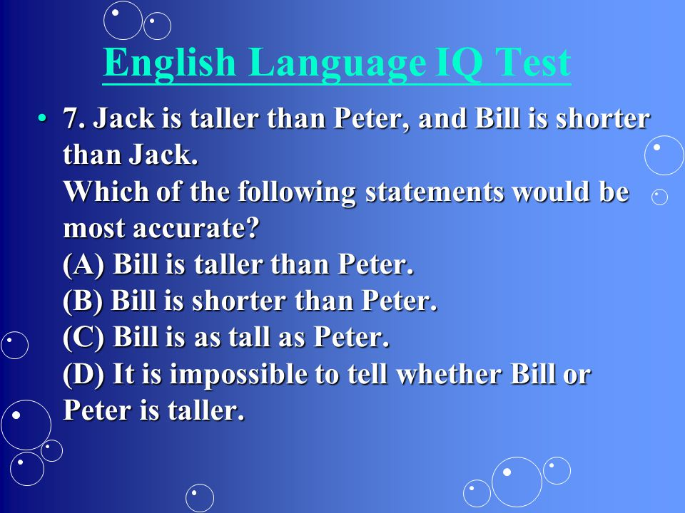iq test are they accurate