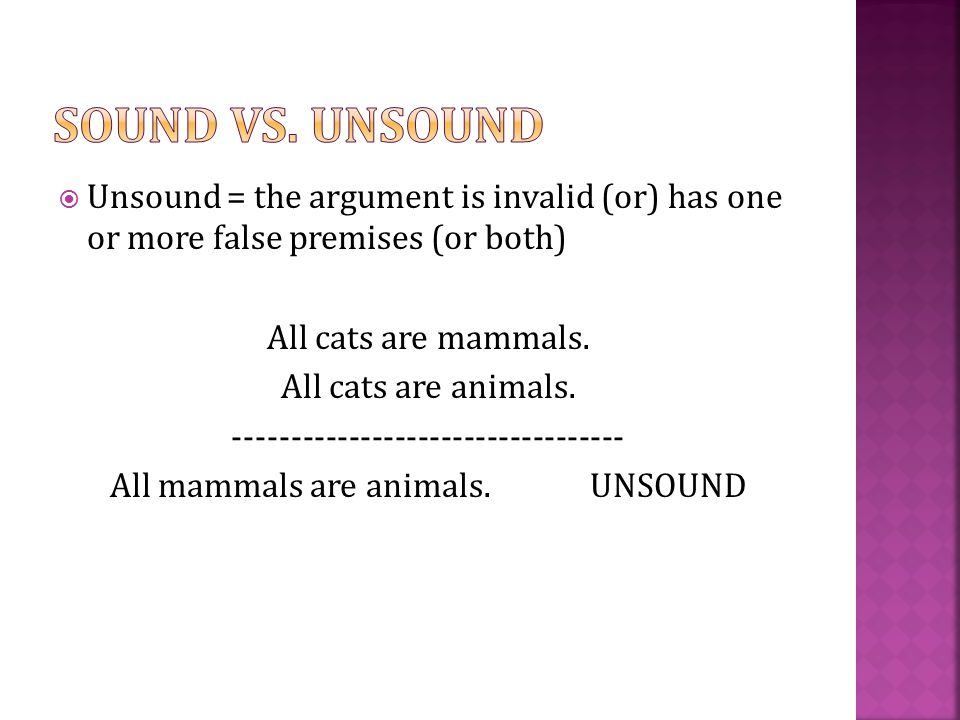 unsound argument examples