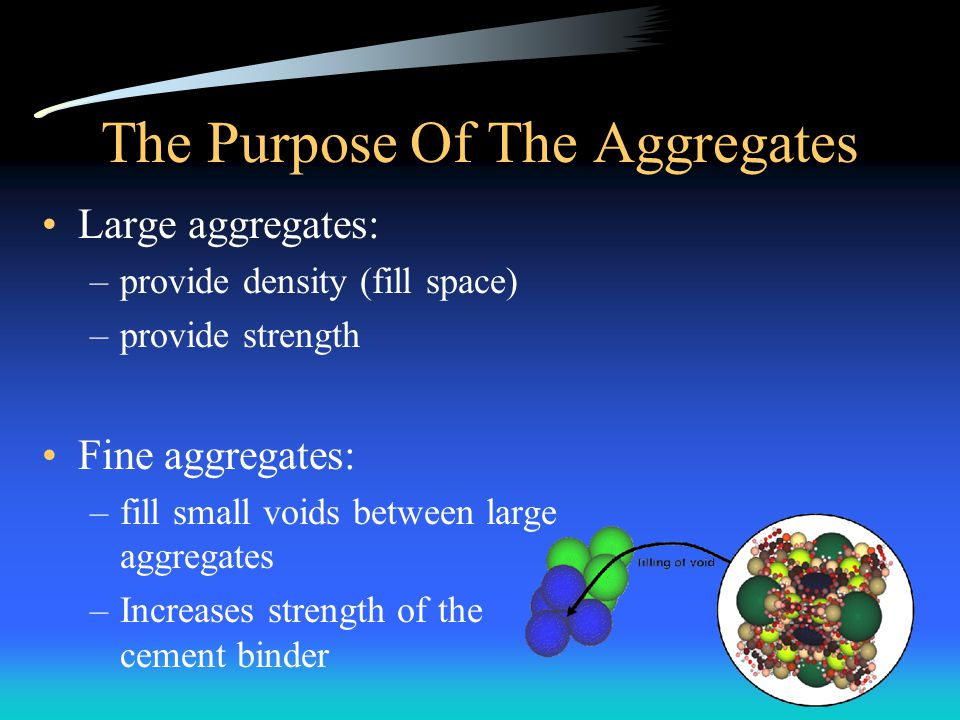 The Purpose Of The Aggregates