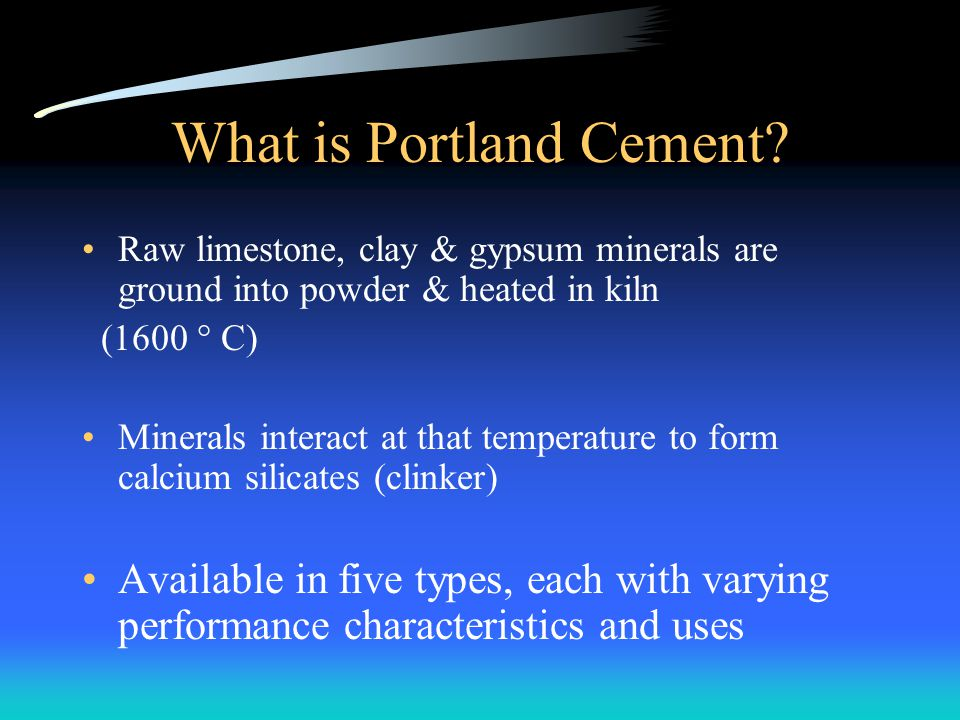 What is Portland Cement