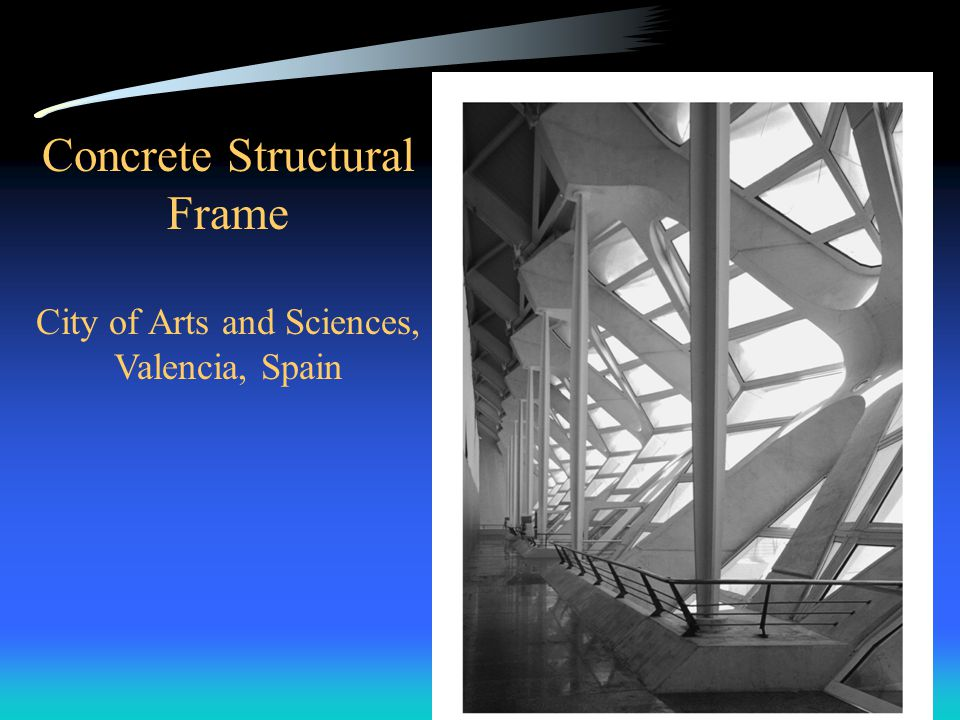 Concrete Structural Frame City of Arts and Sciences, Valencia, Spain