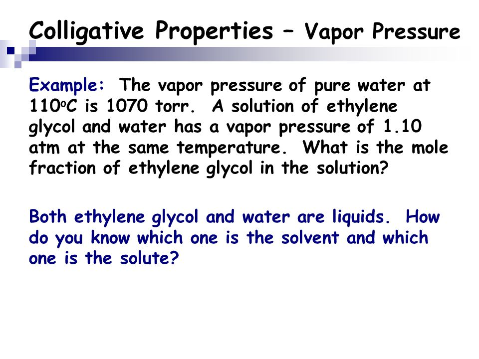 Colligative Properties Ppt Video Online Download
