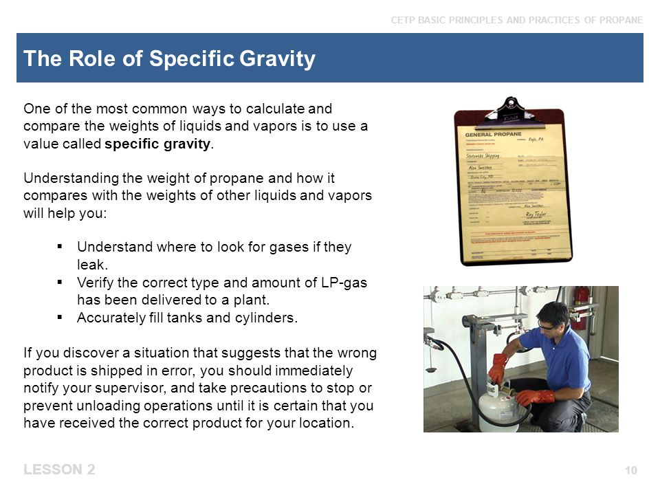 The Role of Specific Gravity