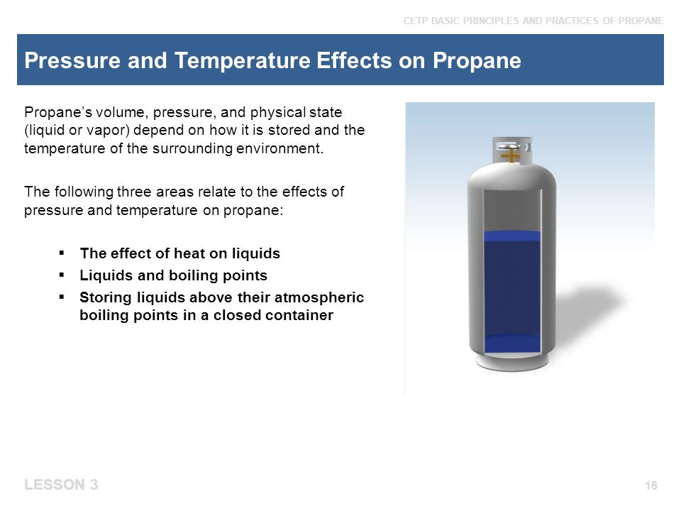 Pressure and Temperature Effects on Propane