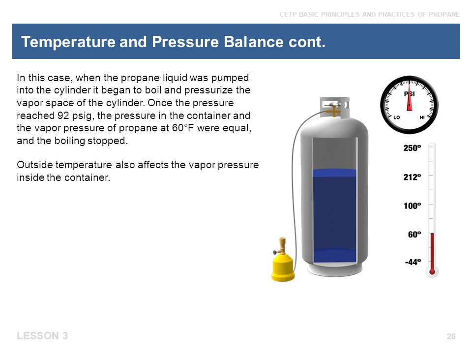 Temperature and Pressure Balance cont.