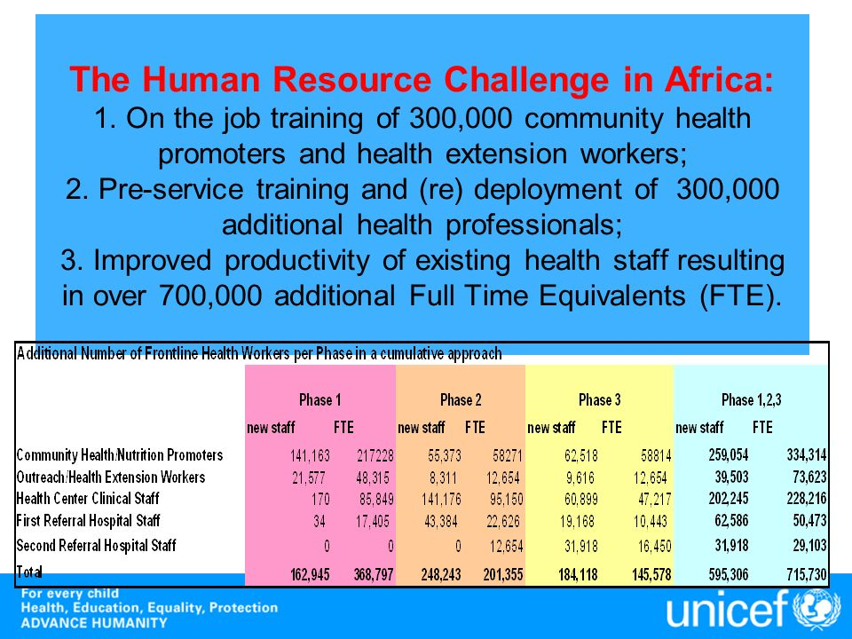 The Human Resource Challenge in Africa: 1