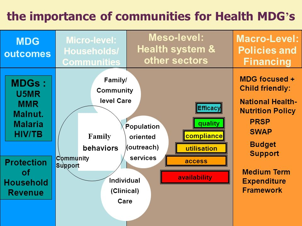 the importance of communities for Health MDG's