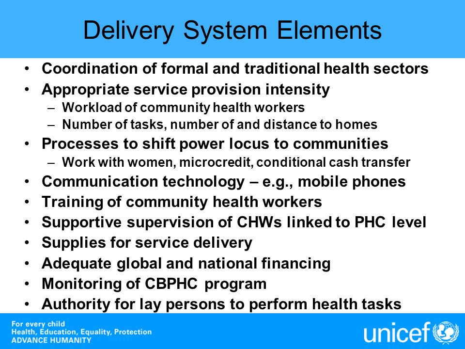 Delivery System Elements