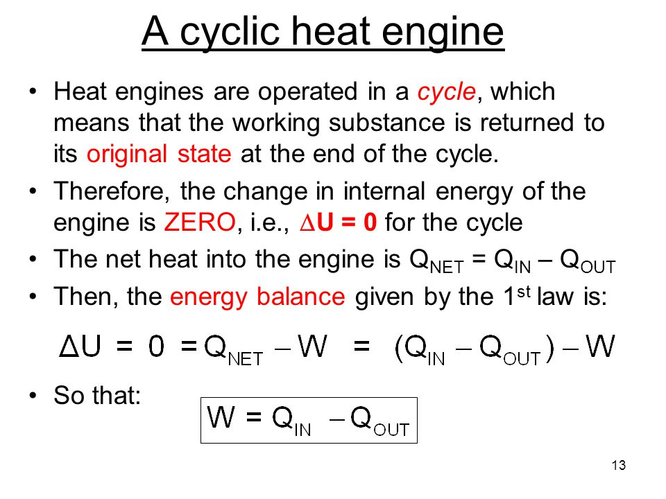 A cyclic heat engine