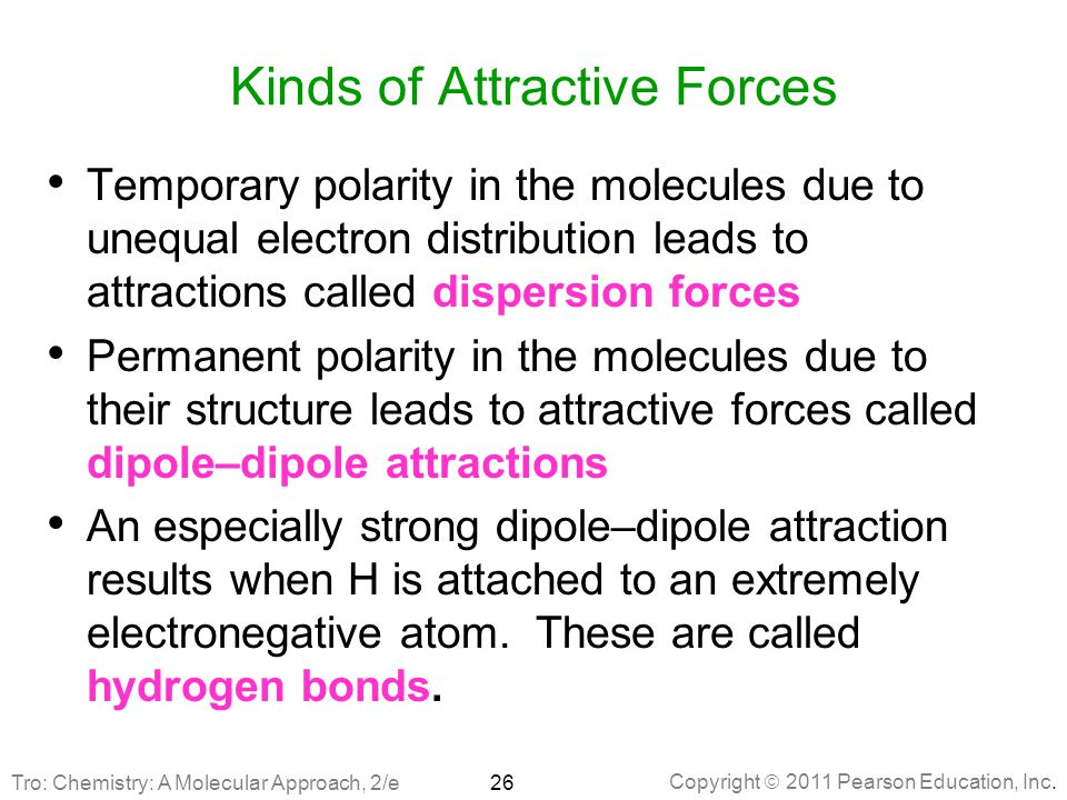 Chapter 11 Liquids Solids And Intermolecular Forces Ppt Download. Kinds Of Attractive Forces. Worksheet. Worksheet Electron Distributions Review Answer Key At Mspartners.co