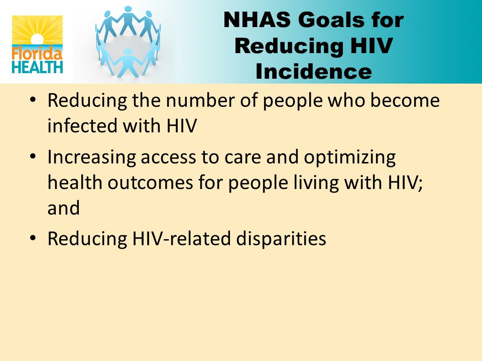 NHAS Goals for Reducing HIV Incidence