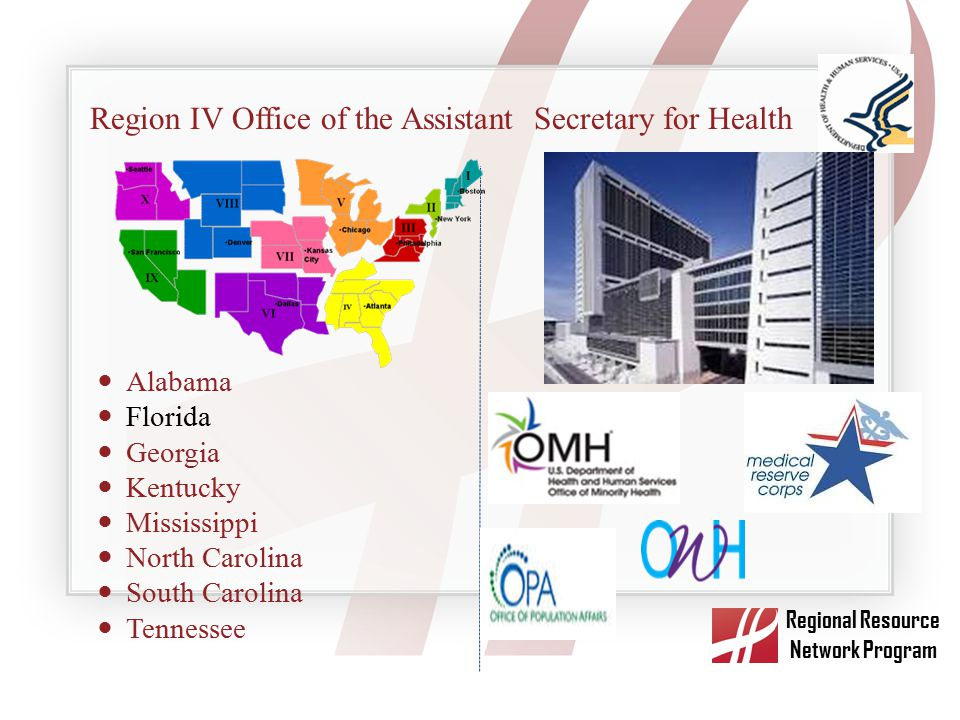 Region IV Office of the Assistant Secretary for Health