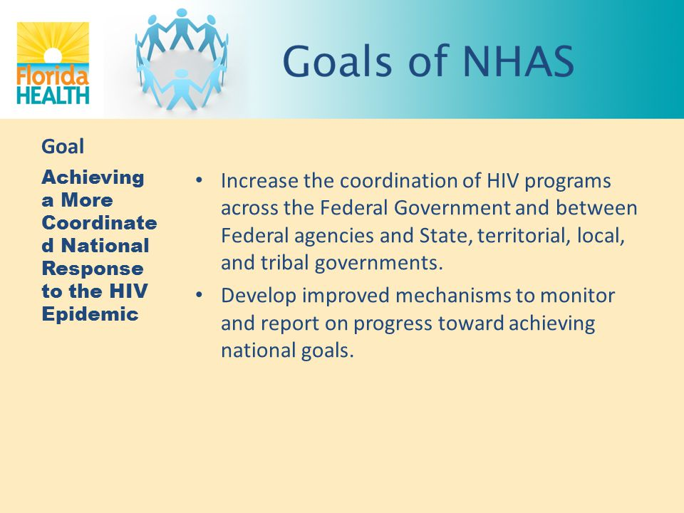 Goal Achieving a More Coordinated National Response to the HIV Epidemic.