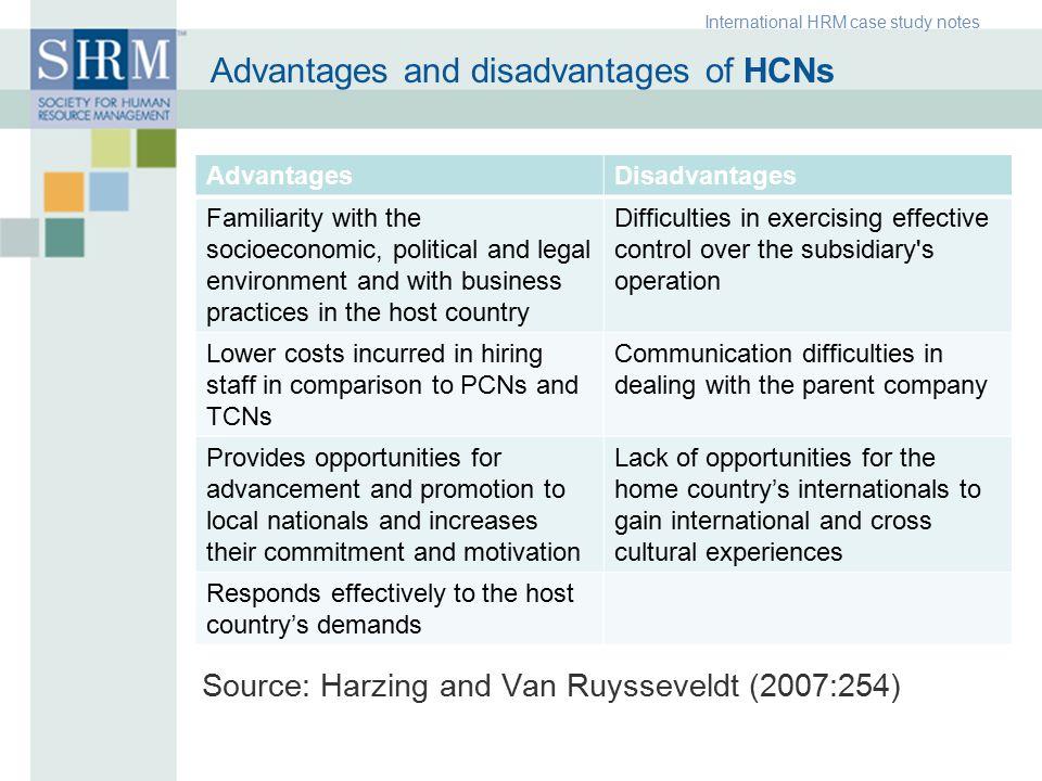 human resources advantages and disadvantages