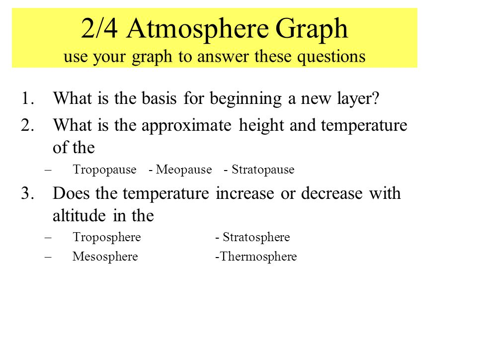 2/4 Atmosphere Graph use your graph to answer these questions