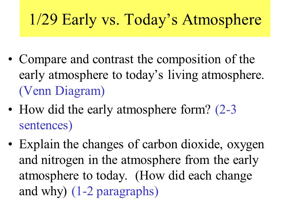 1/29 Early vs. Today's Atmosphere