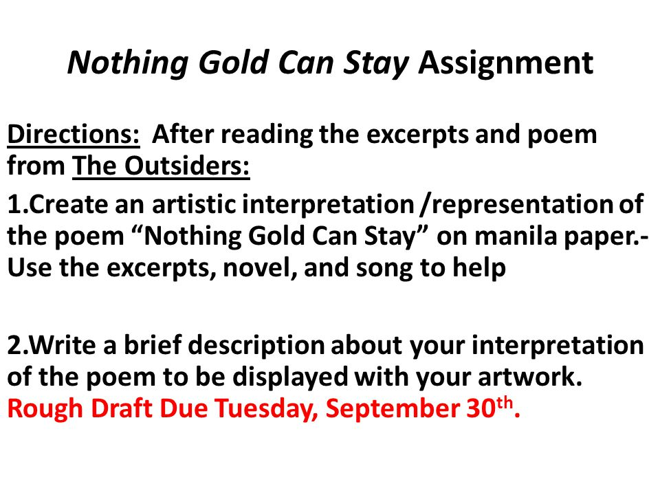 nothing gold can stay poem analysis