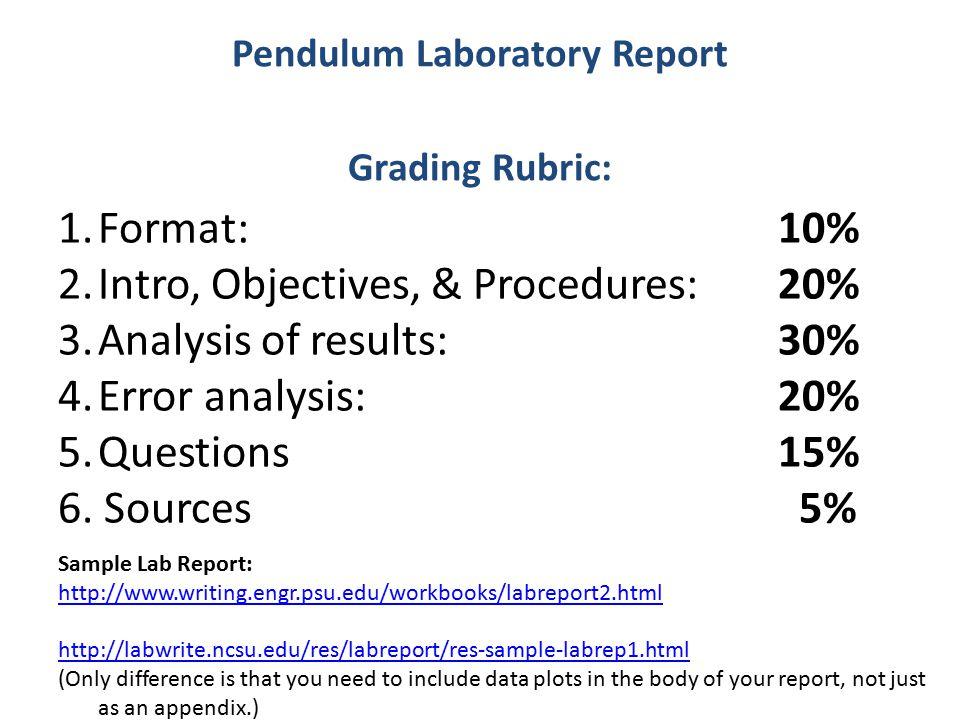appendix lab report